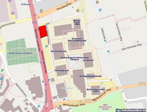 Karte der angedachten Baufläche