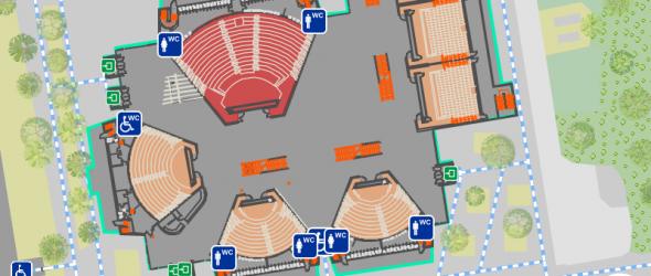 Wo geht's zum WC? Campuskarte zeigt barrierefreie Wege