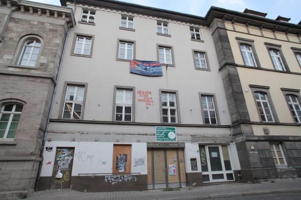 Das ehemalige Wohnheim - künftig Sitz der Akademie der Wissenschaften
