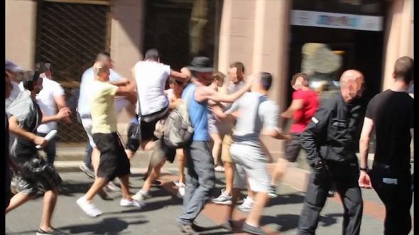 Angriff auf Teilnehmer der Gegenkundgebung