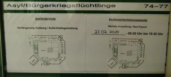 Viele Aushänge sind nur auf deutsch verfügbar