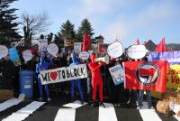 Die symbolische Blockade des nicht-stattgefundenen Neonaziafmarsches