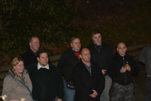 NPD-Aktivisten und frühere regionale Kader bei der Kundgebung in Duderstadt